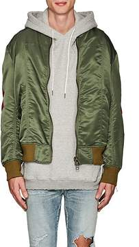 Facetasm Men's Wool-Inset Bomber Jacket
