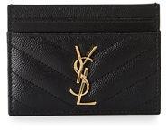 Saint Laurent Monogram Matelassé Leather Card Case - NERO - STYLE