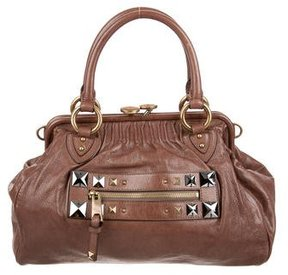 Marc Jacobs Studded Stam Bag - BROWN - STYLE