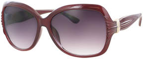 Kay Unger Red Tara Oversize Round Sunglasses