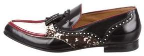 Gucci Leather & Ponyhair Tassel Loafers