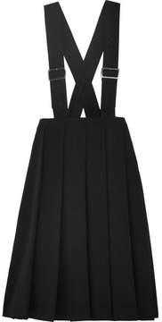 Comme des Garcons Pleated Wool Gabardine Midi Dress - Black