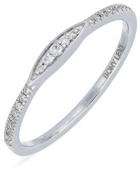 Bony Levy 18K White Gold Pave Diamond Stackable Ring - 0.09 ctw