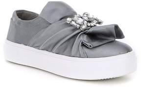 Kenneth Cole New York Girls' Shout Shine Satin Sneakers