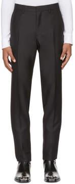 Calvin Klein Black Wool and Mohair Slim Trousers