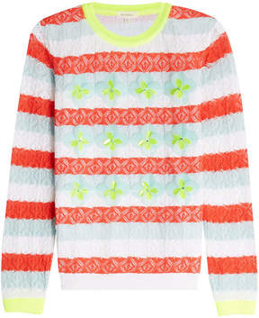 DELPOZO Embellished Lace Cotton Pullover