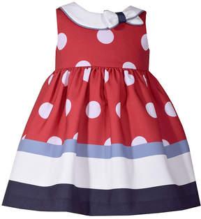 Bonnie Jean Sleeveless Dot Stripe Dress - Baby Girls
