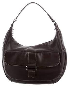 Longchamp Leather Hobo Bag