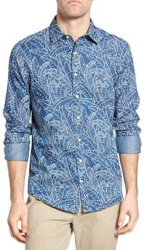 Gant Indigo Leaf Print Fitted Sport Shirt