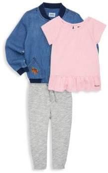 Hudson Baby's Three-Piece Bomber Jacket, Top & Pants Set