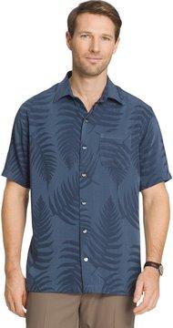 Van Heusen Men's Classic-Fit Leaf Jacquard Button-Down Shirt