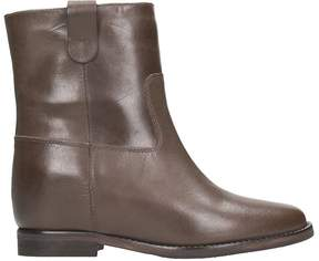 Julie Dee Brown Leather Boots
