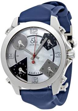 Jacob & co Jacob and Co. Five Time Zone Mother of Pearl Men's Watch