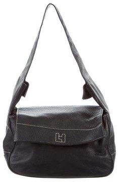 Lambertson Truex Grained Leather Flap Bag