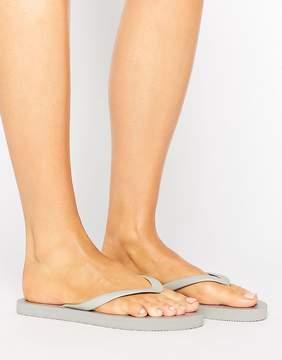 Pieces Vera Silver Metallic Flip Flop Sandals