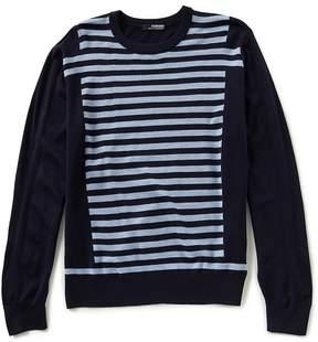 Murano Modern Performance Intarsia Stripe Crew Sweater