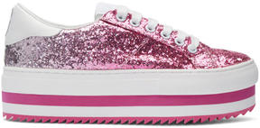 Marc Jacobs Pink Grand Glitter Platform Sneakers