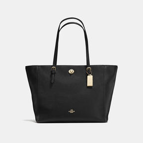 COACH Coach Turnlock Tote - LIGHT GOLD/BLACK - STYLE