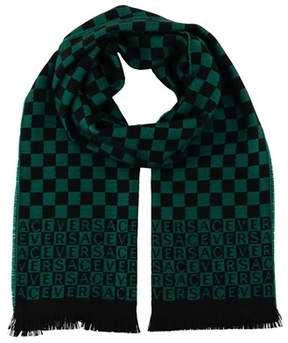 Versace It00628 Verde Emerald Green 100% Wool Mens Scarf.