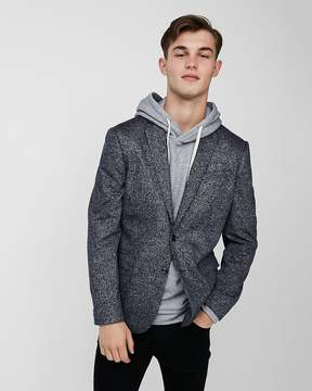 Express Slim Navy Knit Blazer