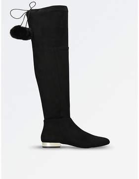Miss KG Vicky suedette pom-pom boots
