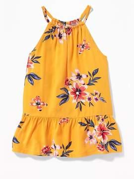 Old Navy Suspended-Neck Floral Top for Girls
