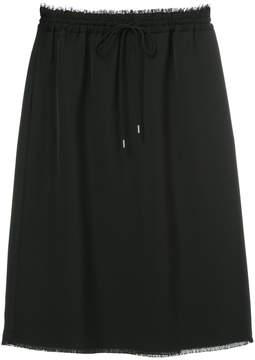 ASTRAET drawstring straight skirt