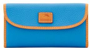 Dooney & Bourke Patterson Leather Continental Clutch Wallet - AZURE - STYLE