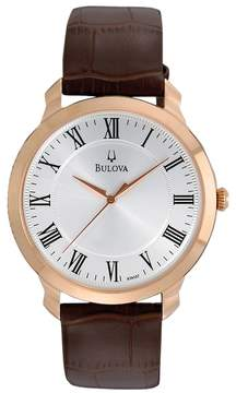Bulova Men's Leather Watch - 97A107