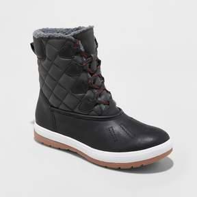 Mossimo Women's Lauren Quilted Winter Boots Black