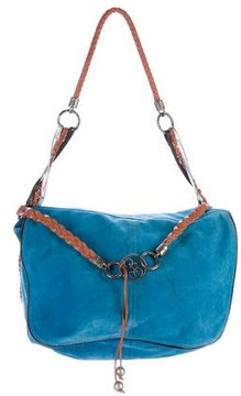Costume National Oversize Suede Flap Bag