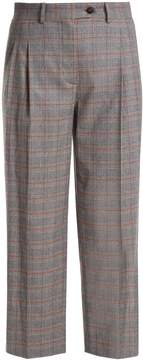 Stella Jean Prince of Wales checked mid-rise cropped trousers