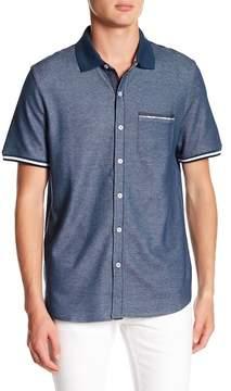 English Laundry Micro Birdseye Short Sleeve Shirt