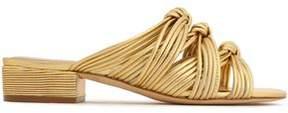 Rachel Zoe Wren Knotted Metallic Leather Sandals