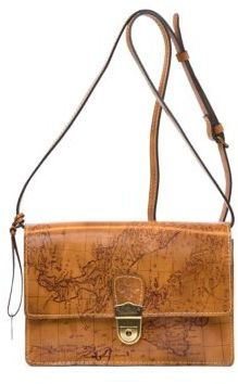 Patricia Nash Signature Map Lanza Leather Crossbody Bag