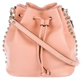 Rebecca Minkoff Studded Unlined Bucket Bag - PINK - STYLE