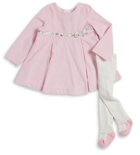 Absorba Baby Girl's Two-Piece Cotton Dress and Tights Set