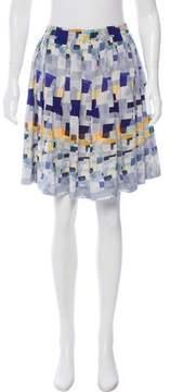 Cacharel Silk Abstract Skirt