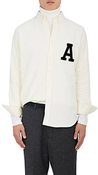 Ami Alexandre Mattiussi Men's Varsity-Patch Brushed Cotton Shirt