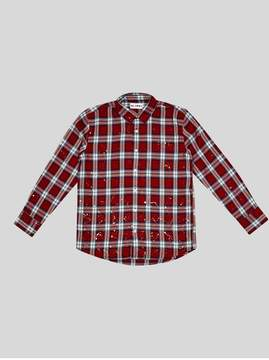DL1961 Kids Kids | Ash Unisex | Red Plaid | Red