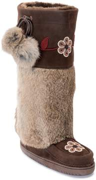 Manitobah Mukluks Genuine Rabbit Fur & Genuine Sheepskin Tall Metis Mukluk