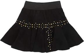 Little Remix Stud-Embellished Suede Skirt