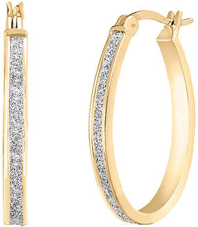 Bliss 14k Gold-Plated Glitter Hoop Earrings