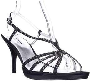 Nina Bobbie Evening Slingback Dress Sandals, Black.