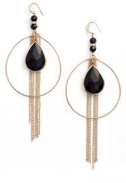 Ettika Women's Hoop & Chains Drop Earrings