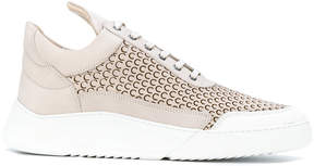 Filling Pieces hi-top perforated sneakers