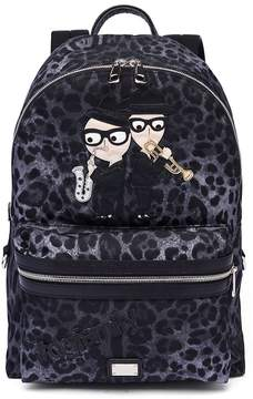 Dolce & Gabbana Leopard Printed Backpack