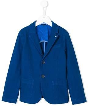 Emporio Armani Kids logo pin lightweight blazer