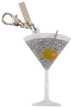 Edie Parker Martini Glass Bag Charm