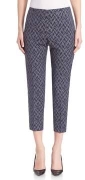 Peserico Women's Abstract Arrow-Print Pants